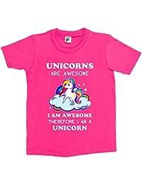 Fancy A Snuggle Unicorns Are Awesome & So Am I Therefore I'm A Unicorn Kids Girls T-Shirt