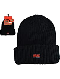Mens/Ladies VERY HOT Heat Machine Thermal 4.3 TOG RATED Knitted winter hat - ski hat - GUARANTEED WARMTH - Black (Grey)