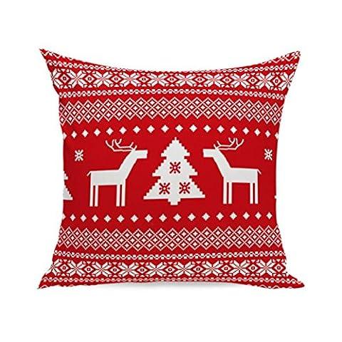 Joyeux Noël ! Reaso Doux Série de Noël Canapé-lit Décoration intérieure Section Coussin (B)