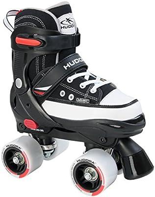 Hudora Rollschuhe Roller Skate, schwarz, verstellbar Gr. 36-39 - Patines en paralelo, color negro, talla 36-39