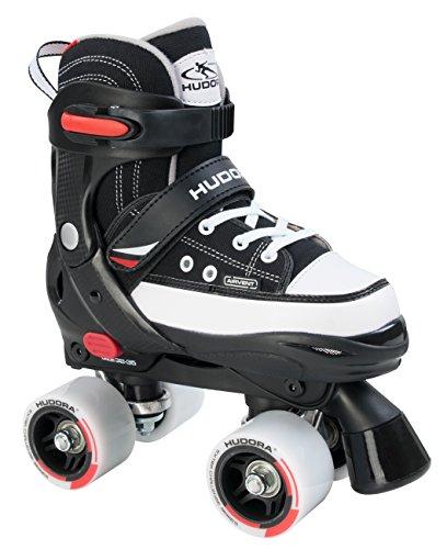 HUDORA Jungen Rollschuhe Roller-Skates, schwarz - Gr. 32-35 verstellbar - 22031