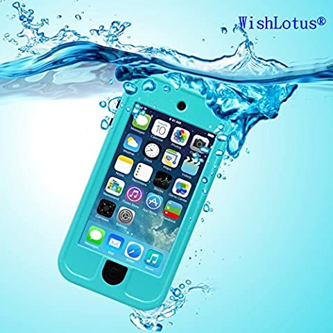 IPod Touch 6 Waterproof Case, IPod Touch 5 Waterproof Case, WishLotus® Waterproof Shockproof Drop Proof Snow/Dust Proof Touch Sensitive Case Cover with Kickstand for Apple iPod Touch 6/5 for Swimming Diving Outdoor Sports (for Touch 6/5,