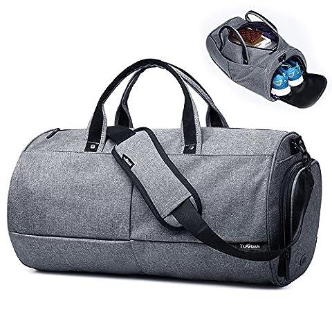 Sport Sac de sport Duffel sac de Voyage sac à bagages pour les Sport Gym vacances Weekend sacs de voyage avec pochette de chaussures