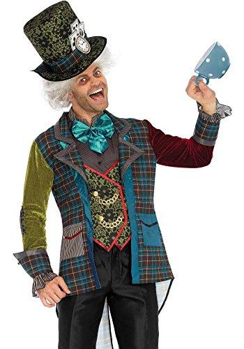 Deluxe Mad Hatter Herren Kostüm von Leg Avenue Verrückter Hutmacher Alice im Wunderland, Größe:L