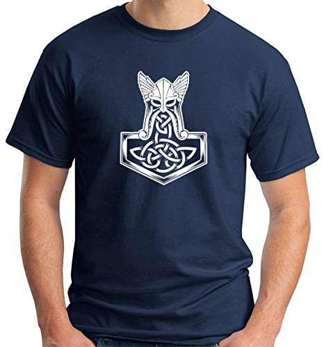 T-shirt T1060 thor hammer religioni celtic, Taglia xx-large