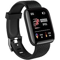 VILLARRICA ID116 Plus Bluetooth Fitness Smart Watch for Men Women and Kids Activity Tracker (Black)
