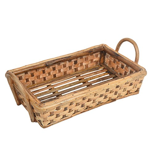 A & E Stylish Multi Purpose Brown Cane Basket tray