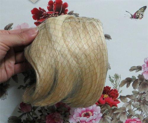 20,3 cm couleur : # 22 Cheveux Humains Véritables cheveux Fashion avant Neat Bang franges One cheveux