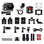 Crosstour 4K 20MP Action Camera Webcam WiFi EIS Waterproof 40M with External Microphone and Remote Control 18