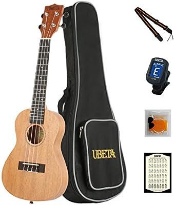 ubeta uc-031ukelele de concierto (madera de caoba (5en 1) Kit: funda, Samsung Galaxy S3MINI i8190sintonizador, púas y correas