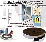 Magnetband selbstklebend Typ A + Typ B - 1,5mm x 25,4mm x 2 Meter - Qualität