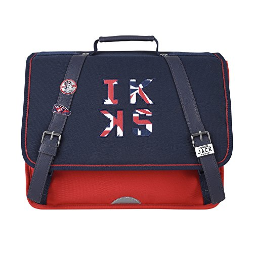 Cartable 38 Rouge IKKS Union Jack Russel