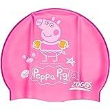 Zoggs Peppa Pig Silicone - Gorro de natación, color rosa