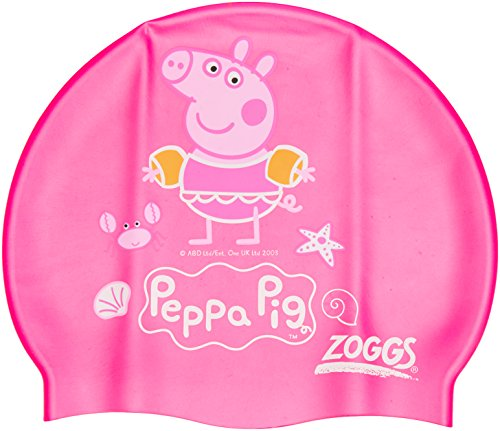 Image of Zoggs Kids Peppa Pig Silicone Swimming Cap - Pink