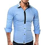 t-shirt manica lunga uomo,Yesmile Camicia da Uomo Maglietta Camicie Slim Fit elegante Manica Lunga T-shirt Top,Slim Fit, Manica Lunga Casual/Formale