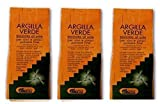 ARGITAL - ARGILLA VERDE FINE 3 CONFEZIONI 2500 G,polvere fine per viso, corpo e capelli