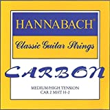 Hannabach Cordes Guitare classique CARBONE Medium/High tension Aigue Jeu de 3 Aig?es