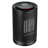 Homemaxs Fan Heater, 1200 Watts Ceramic Portable Oscillating Electric Space Heater, Timer Setting with Adjustment Thermostat Heater for Home and Office