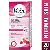 #7: Veet Full Body Waxing Kit with Easy-Gelwax Technology for Normal Skin - 20 Strips