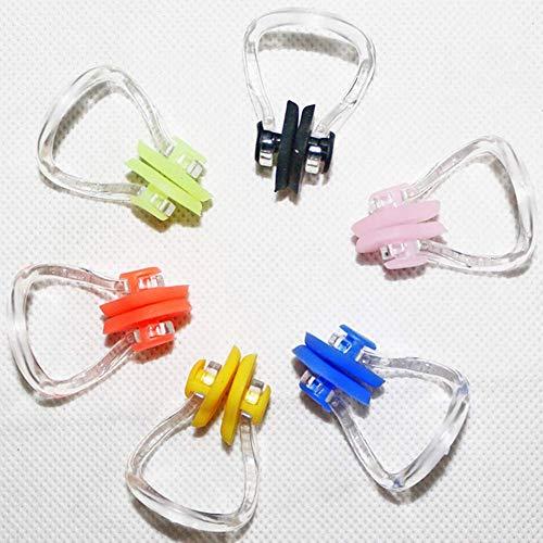 Ganquer 10 Stück Ausrüstung Hilfe Gratis Tauchen Nasenklammer Silikon Schwimmen Erwachsene Kinder Anfänger - Zufällig Farbe