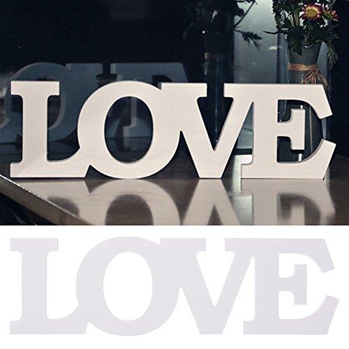 westhighland Elegnat Holz freistehend Buchstaben vintage Exquisite natur Holz Buchstaben weiß MR & MRS Zeichen für Hochzeit Sweetheart Tisch und Empfänge Tischdekorationen love (Mr Und Mrs Hochzeit Tisch Zeichen)
