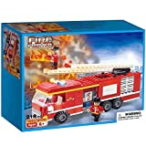 #1: Webby Fire Fighter Fire Truck Building Blocks, 219 Pieces