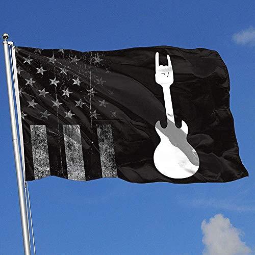 Elaine-Shop Abgenutzte Flaggen im Freien USA Flagge E-Gitarre 4 * 6 Ft Flagge für Wohnkultur Sport Fan Fußball Basketball Baseball Hockey