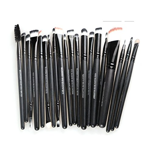 Tonsee® 20PCS Set Brosse Pro Makeup Brush Tools Make-up Toiletry Kit Wool Makeup Brush (All Black)