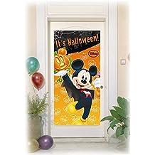 Procos 84256 - Decorazione Porta Mickey Halloween, 150 x 75 cm, Arancione/Nero