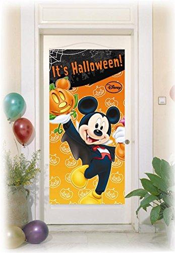 Disney Mickey Maus Halloween Tür Poster, 5ft x (Halloween Disney Dekorationen Party)