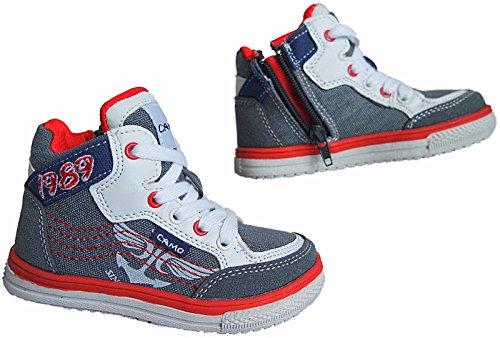 Kinder Freizeit Knöchelschuhe Turnschuhe Sneaker Schuhe gr.31 - 36 nr. 822 Grau
