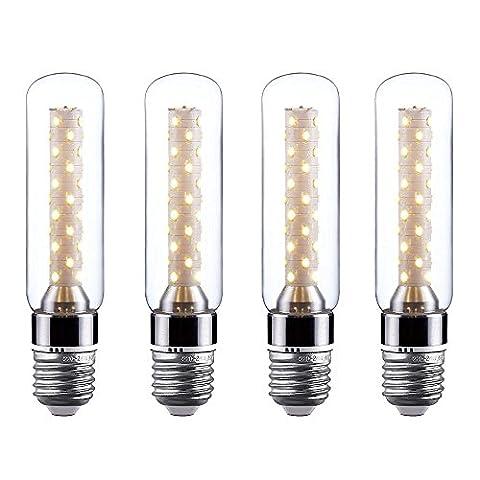 FSLiving 3014 Smd Led Bulbs 6w T10 Tubular Led Light Bulb Energy Saving 360 Degree for Desk Light Wall Light (Soft White 2700k-3000k)(4 Pack)