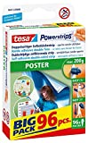 tesa Powerstrips® Poster-Klebestreifen, max. 200 g, spurlos wieder ablösbar, BIG PACK mit 96 Stück (10er Pack)