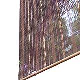 Bambusrollo- Bambus-Rollos für Fenster/Tür, Hakentyp Roll Up Rolläden, 60% Lichtfilterung, Kann Schattenrolle anheben - Brown (größe : 50x120cm)