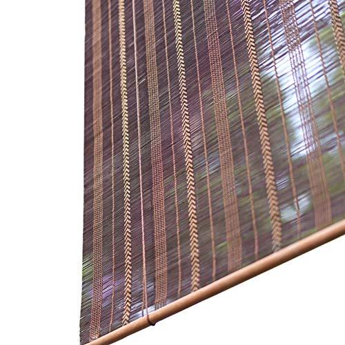 Cortina de Bambu- Cortinas De Bambú del Rodillo para Ventana/Puerta, Tipo De Gancho Enrollar Las Persianas, 60% De Filtrado De Luz, Can Lift Shade Roller - Marrón (Tamaño : 70x150cm)