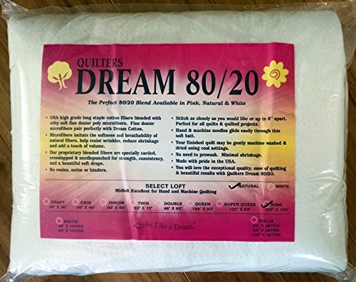 Unbekannt Quilter's Dream 80/20 Natural, Select Loft Batting - King-Size-Größe 125,1 x 304,8 cm