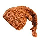 Bonnet Bébé, Tricot de Mode Mohair Enfants Unisexes Chapeaux d'hiver Solide, Automne et Hiver (Café)