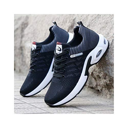 Shoes Male Sneakers 2019 Summer Air Mesh Breathable Wedges Sneakers Men Buty Meskie Popular HH-338 Black 9.5 ()