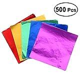 ULTNICE Folie Geschenkpapier Lebensmittelqualität Geschenkpapier für die Verpackung Schokolade Candy 5Pack