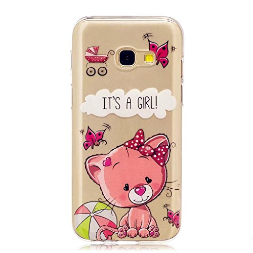 MUTOUREN Samsung Galaxy A5 (2017) TPU Case [Slim Fit] Clear Soft TPU Gel Rubber [Scratch Resistant] Silicone Protective Case Crystal Clear Bumper Case,Colorful Pattern Design Cute Printing Rubber Transparent Jelly Protective Case for Samsung Galaxy A5 (2017) - Pet cats