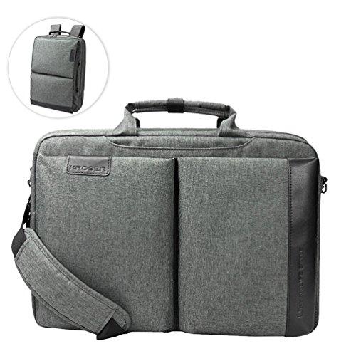 KROSER Laptop Tasche 15,6 Zoll Laptop Rucksack Multi-Funktion 2 in 1 Wasserabweisend Computer Rucksack Laptoptasche Für Schule/Reise/Business/Frauen/Männer-Kohlengrau MEHRWEG