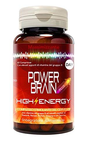 POWER BRAIN PLUS - Integratore multivitaminico energetico -16 componenti per stimolare l\'energia mentale, supportare la memoria e la concentrazione