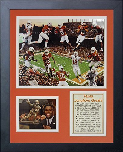 Texas Collage (Legends Never Die Texas Longhorn Greats Framed Photo Collage, 11 by 14-Inch by Legends Never Die)