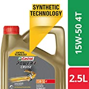Castrol - 3413284 POWER1 Cruise 4T 15W-50 API SN Synthetic Engine Oil for Bikes (2.5L)