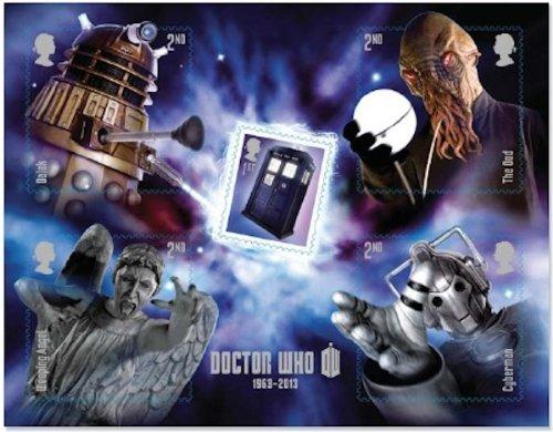 Doctor Who Mini-Bogen, 5 Briefmarken Special