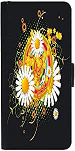 Snoogg Floral Vector Abstractdesigner Protective Flip Case Cover For Samsung ...