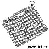 JIAXIA Prodotti per la Pulizia Acciai inossidabili Spazzola per la Pulizia Lavapiatti Quadrato Forniture per Cucina a Forma di Cerchio Pulitore per ghisaQuadrato 8x6 Pollici