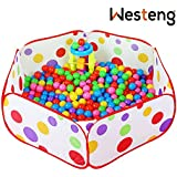 Westeng Ball Pool Hexagon Polka Dot Play House Crush Pit Ball Baby Kids Cute Toy Tent Easy Folding Portable