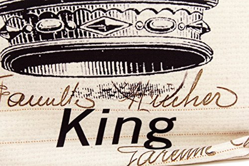 Kissenbezug Erik 40x40cm Sofa Kissenhülle King Krone Postkarte Shabby Vintage French Chic alte Schrift Nostalgie Kissen Dekokissen - 2