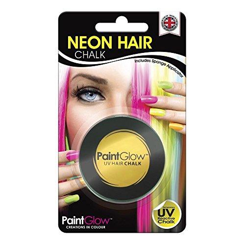 Smiffys - SM46087 - Pot Craie UV Cheveux 3 - 5 g Jaune - Taille Unique